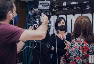 Eva Libertad en el estreno de Nikolina