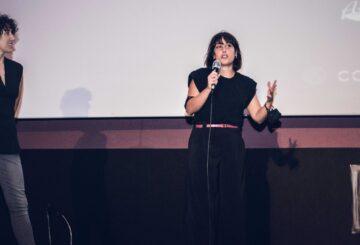 Marta Megías y Nuria Muñoz en el estreno de Nikolina